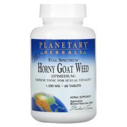 Planetary Herbals, Горянка, полный спектр, 1200 мг, 60 таблеток