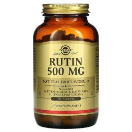 Solgar, Рутин, 500 мг, 250 таблетки