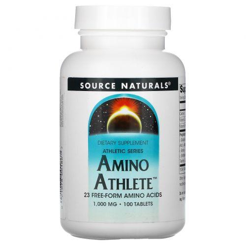 Source Naturals, Аминокислоты для спортсменов, 1000 мг, 100 таблеток