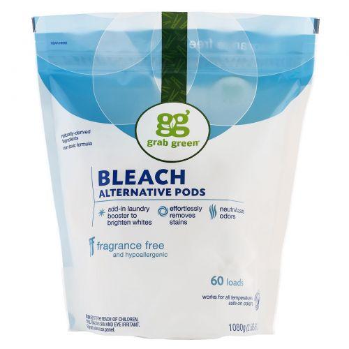 Grab Green, Отбеливатель Bleach Alternative, без отдушки, 60 порций, 2 фунта 4 унции (1080 г)