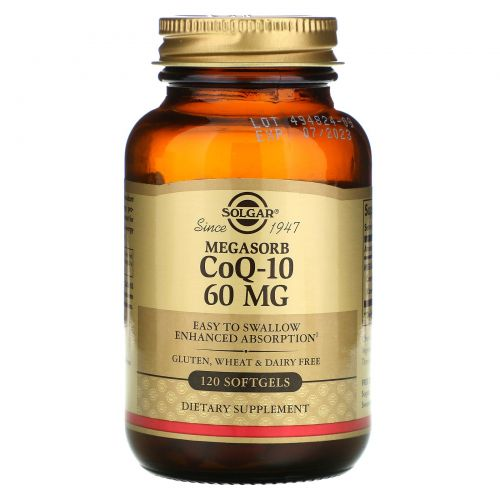 Solgar, Megasorb CoQ-10, 60mg, 120 Softgels