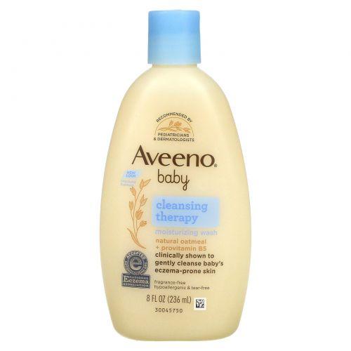 Aveeno, Очищающий и увлажняющий детский гель для душа, без запаха, 8 жидких унций (236 мл)