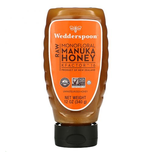 Wedderspoon, Raw Manuka Honey, KFactor 16, 12 oz (340 g)