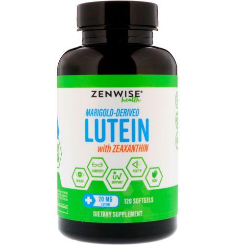 Zenwise Health, Лютеин и зеаксантин, полученные из календулы, 20 мг, 120 мягких таблеток