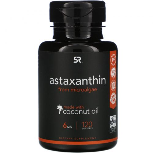 Sports Research, Astaxanthin with Coconut Oil,  6 mg, 120 Softgels