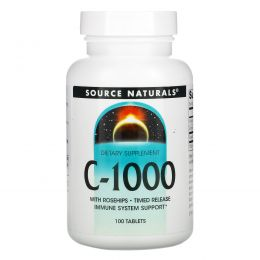 Source Naturals, C-1000, 100 таблеток