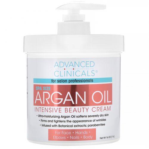 Advanced Clinicals, Аргановое масло, крем Intensive Beauty, 16 унций (454 г)