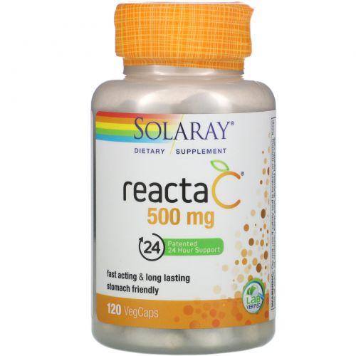 Solaray, Reacta-C, 500 mg, 120 Vegetarian Capsules