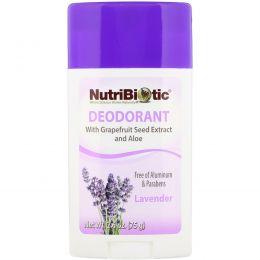NutriBiotic, Стойкий дезодорант, лаванда, 2,6 унции (75 g)