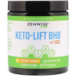 Zenwise Health, Keto-Lift BHB, Бета-гидроксибутират, клубничный лимонад, 8,18 унций (232 г)