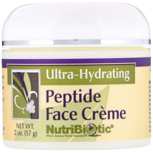 NutriBiotic, Ультраувлажняющий крем для лица с пептидами, 2 унции (57 г)