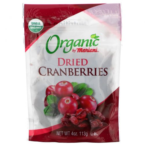 Mariani Dried Fruit, Organic, Dried Cranberries, 4 oz ( 113 g)