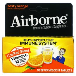AirBorne, Шипучие таблетки  апельсиновым вкусом, 10 таблеток