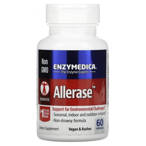 Enzymedica, Allerase, 60 капсул