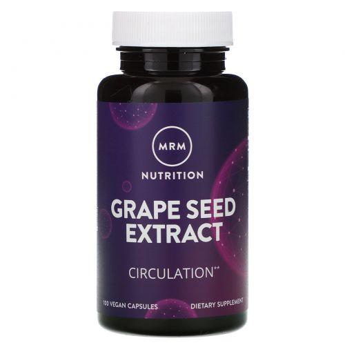 MRM, Экстракт виноградных косточек, 120 мг, 100 веганских капсул
