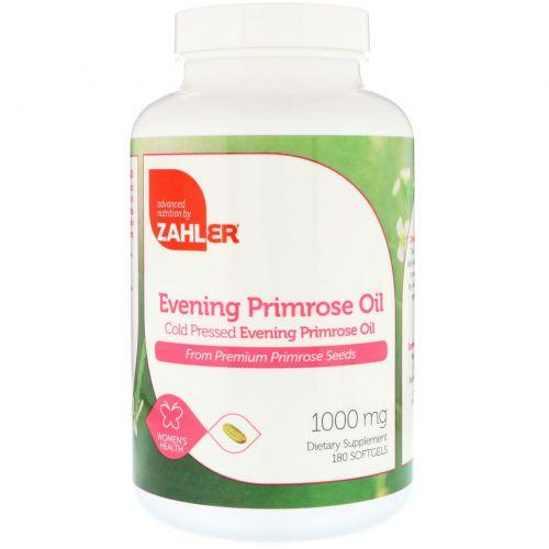 Zahler, Evening Primrose Oil, Cold Pressed, 1000 mg, 180 Softgels