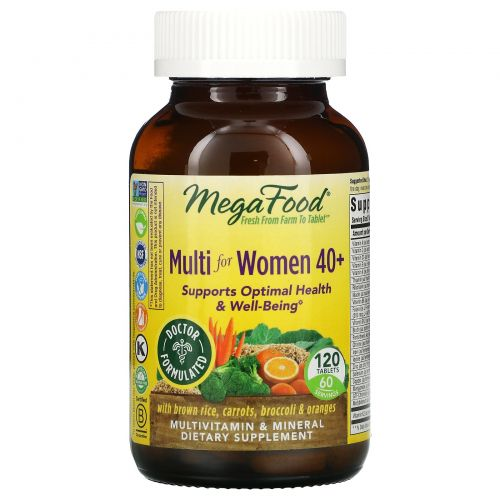 MegaFood, Мультивитамины для женщин 40+, 120 таблеток