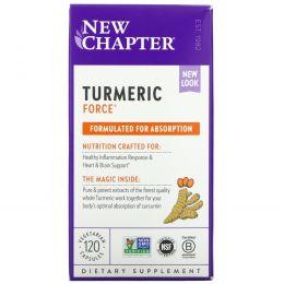 New Chapter, Растительные капсулы Turmeric Force, 120 шт.
