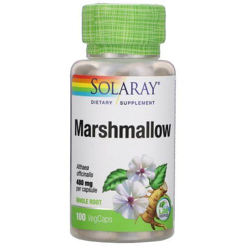 Solaray, Marshmallow, 480 mg, 100 VegCaps