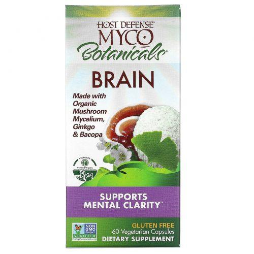 """Fungi Perfecti, """"Грибы и травы для мозга"""" из серии """"Грибы для защиты организма"""", пищевая добавка из грибов и трав для улучшения работы мозга, 60 капсул в растительной оболочке"""