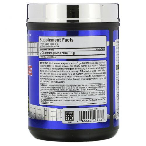 ALLMAX Nutrition, 100% чистый микронизированный глутамин, 1000 г