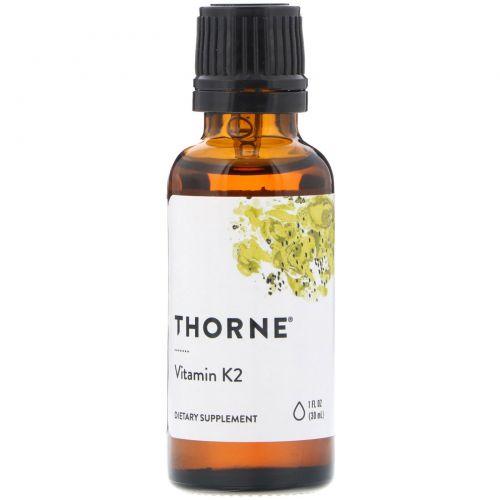 Thorne Research, Витамин К2, 1 жидкая унция (30 мл)