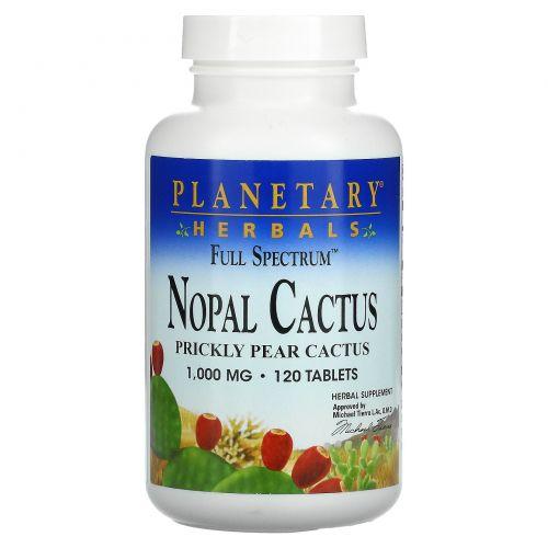 Planetary Herbals, Мексиканский нопал, кактус-опунция полного спектра, 1000 мг, 120 таблеток
