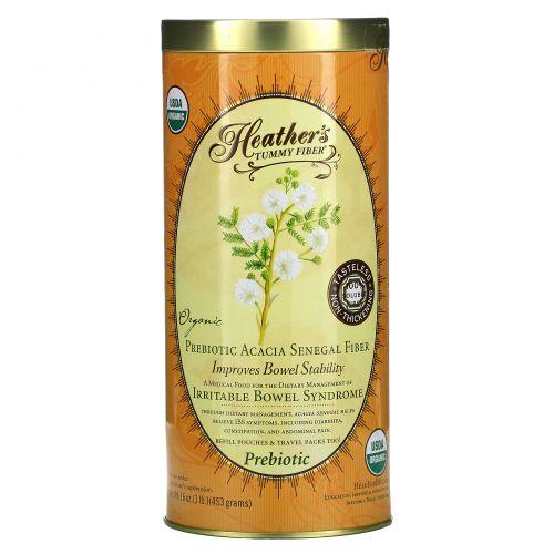 Heather's Tummy Care, Волокна для улучшения пищеварения, Органические волокна акации сенегальской, 16 унций (453 г)