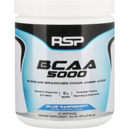 RSP Nutrition, BCAA 5000, Blue Raspberry, 7.94 oz (225g)