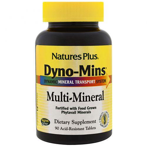 Nature's Plus, Дино-Минс, мультиминерал, 90 кислотостойких таблеток