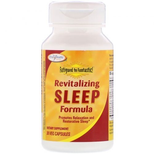 Enzymatic Therapy, Fatigued to Fantastic! Revitalizing Sleep Formula, 30 вегетарианских капсул
