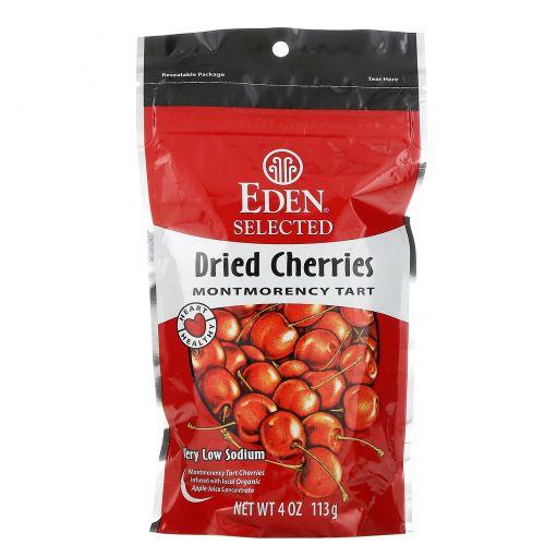 Eden Foods, Высушенная отборная кислая вишня сорта Монморанси, 4 унции (113 г)