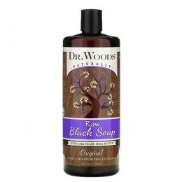 Dr. Woods, Сырое чёрное мыло, справедливая торговля, 32 ж. унций (946 мл)