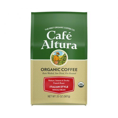 Cafe Altura, Organic Coffee, Italian Style, French Roast, Whole Bean, 20 oz (567 g)