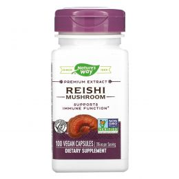 Nature's Way, Reishi Standardized, 100 капсул