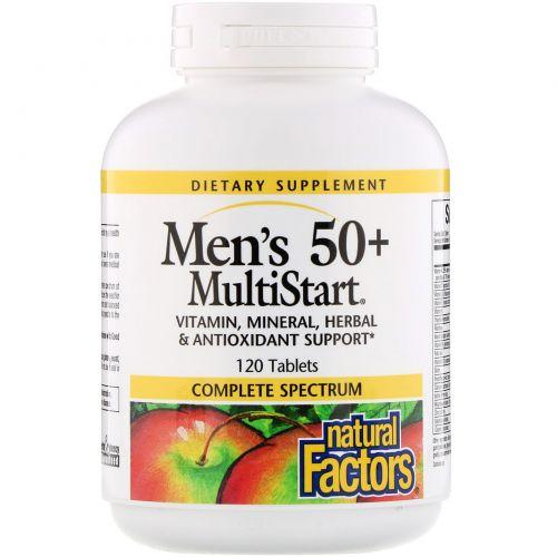 Natural Factors, Комплекс мультивитаминов «MultiStart» для мужчин старше 50 лет, 120 таблеток