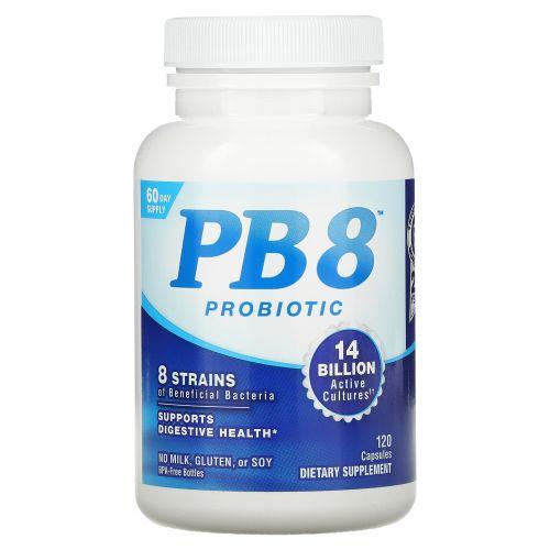 Nutrition Now, PB8, Натуральная формула, Ацидофильные пробиотики, 120 капсул