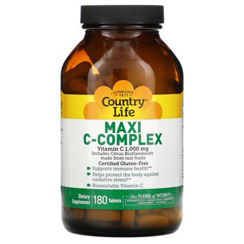 Country Life, Maxi C-комплекс, 180 таблеток