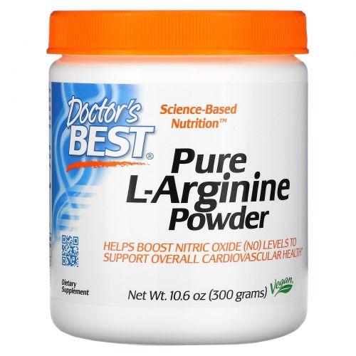 Doctor's Best, Чистый порошок L-аргинина, 10,6 унций (300 г)