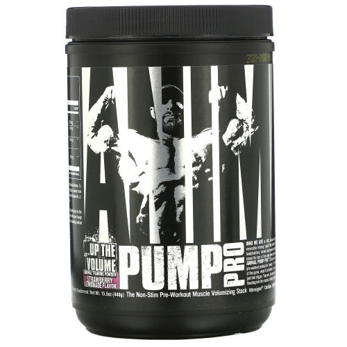 Universal Nutrition, Animal Pump Pro, Non-Stim Pre-Workout, Strawberry Lemonade, 15.5 oz (440 g)