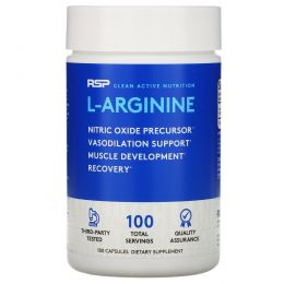 RSP Nutrition, L-Arginine, 750 mg, 100 Capsules
