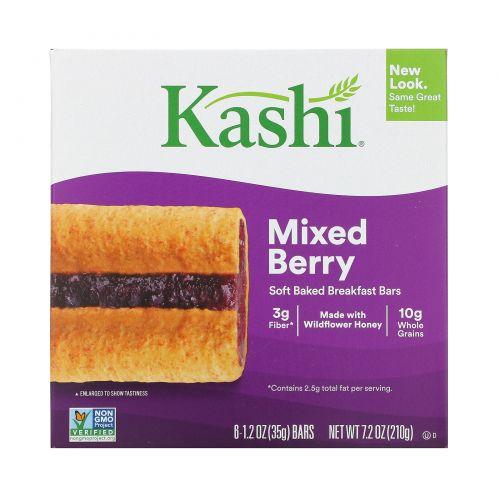 Kashi, Soft Baked Breakfast Bars, Mixed Berry, 1.2 oz (35 g) Each