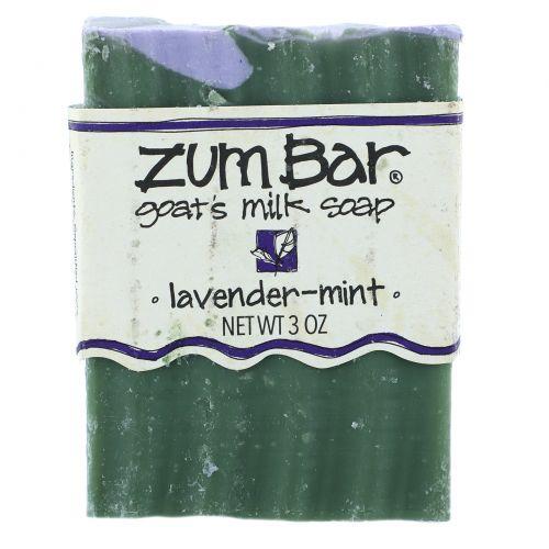 Indigo Wild, Zum Bar, мыло из козьего молока, лаванда-мята, кусок весом 3 унции