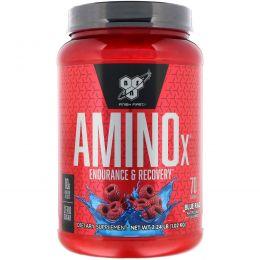 BSN, Amino-X, выносливость и восстановление, декофеиновый, Blue Raz, 2,23 фунтов (1.01 кг)