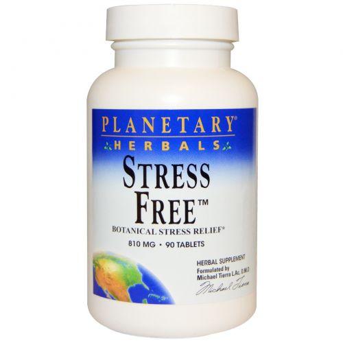 Planetary Herbals, Stress Free, снятие стресса с помощью растений, 810 мг, 90 таблеток