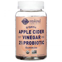 Garden of Life, MyKind Organics, Organic Apple Cider Vinegar Probiotic Gummies, 2 Bil CFU, 60 Vegan Gummies