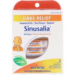 Boiron, Sinusalia, средство от синусита, 2 тубы, приблизительно 80 быстрорастворимых гранул в каждой