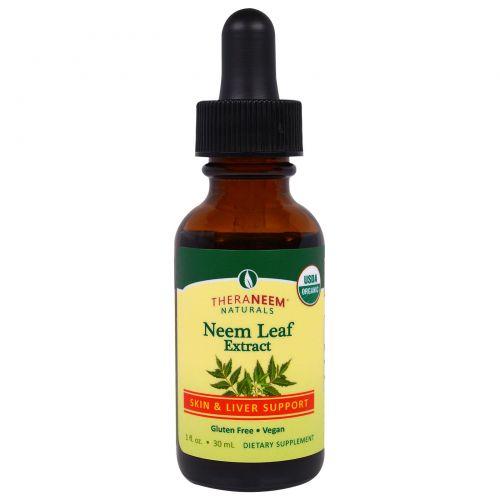 Organix South, TheraNeem Organix, экстракт листьев азадирахты, поддержка кожи и печени, 30 мл
