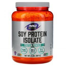 Now Foods, Изолят соевого белка, не содержит ароматизаторов, 2 фунтов (907 г)