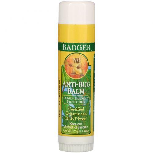 Badger Company, Бальзам для защиты от насекомых, 0,60 унций (17 г)